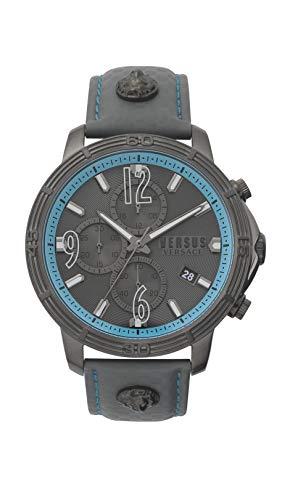 Versus Versace Reloj Analógico para de los Hombres de Cuarzo con Correa en Cuero VSPHJ0420