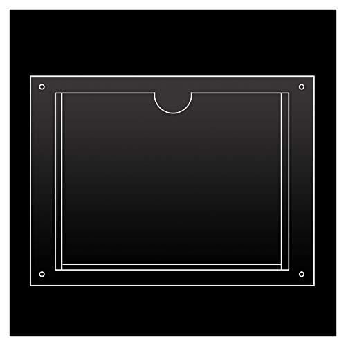 JKGHK Soportes De Acrílico para Uso Doméstico Y De Oficina, Soporte para Notas De Pared con 4 Orificios Sin Taladrar, Opciones de tamaño múltiple,Horizontal,89mm x 127mm