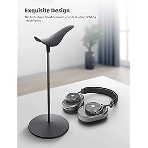 Headphone Desktop Stand Headset Holder - Lamicall Desk Earphone Stand, for All Headsets Such as HyperX Gaming Headphones, Beats/Sony/Sennheiser Music Headphones - Black