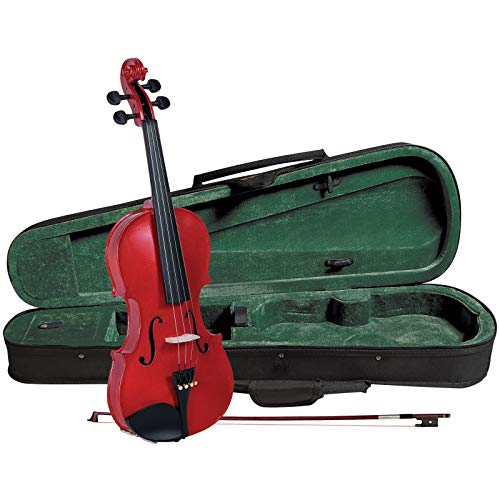 Cremona SV-75 Premier Novice Violin Outfit - Sparkling Red - 1/4 Size