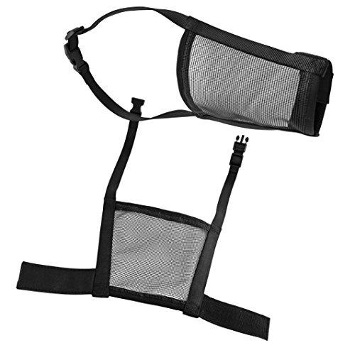 CHAPUIS SELLERIE Museliere pour Chien Reglable Nylon Noir Larg 20mm,long 22-36cm