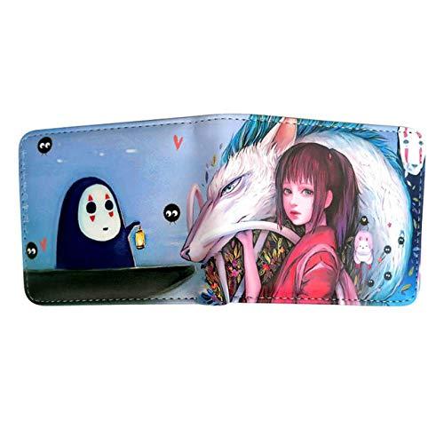 Portefeuille Spirituele portefeuille vrouwelijk No Face man Cartoon Anime portemonnee & portemonnee kaart-Id-eigenaar rits munttas