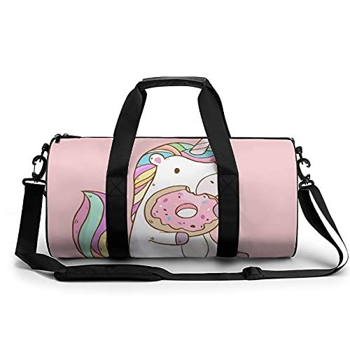 Bolsa De Lona Donut De Unicornio Bolsa De Gimnasio para Hombres Y Mujeres para Viajes Deportivos