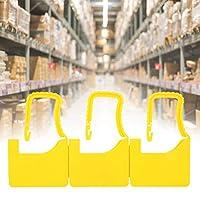 100個プラスチックセルフロックラベルプラスチックシール使い捨てプラスチックロックシューズバッグスーツケース家庭用(yellow)