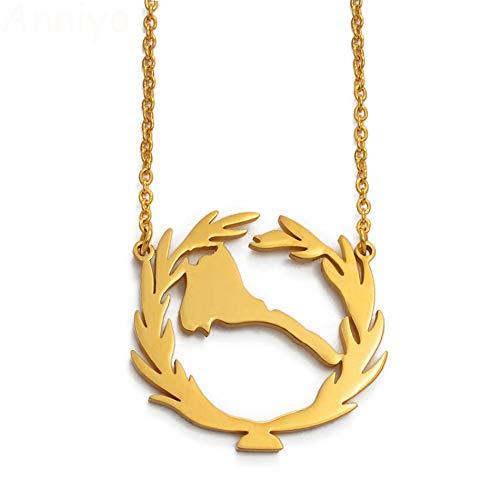 n a Eritrea Karte Anhänger Und 45cm Halsketten Für Frauen/mädchen Gold Farbe Schmuck Afrikanische Karte Von Eritreischen Geschenk
