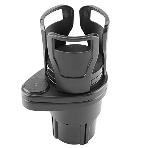 SKVVIDY Cup Holder 360 Degree Rotating 2 In 1 Cup Holder Vehicle-mounted Slip-proof Water Car Cup Holder Multifunctional Dual Auto Car Cup Holder (Color Name : Black)