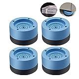 4PCS Waschmaschinenfüße Geräuschreduzierung und rutschfest Gummifußpolster Antivibrationsmatte um 4 cm erhöht Multifunktionales Fußpolster für Kühlschrank Waschmaschine (4cm)