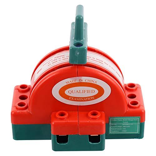 Scicalife Interruptor de Cuchilla de Desconexión de 2 Interruptor Seccionador de Cobre de Doble Potencia Interruptor Semicircular Generador de Circuito de Respaldo