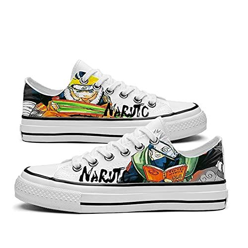 MAZF Zapatos de Lona Naruto Low Cut Unisex Cosplay Zapatos Casuales De Zapatillas con Cordones-41