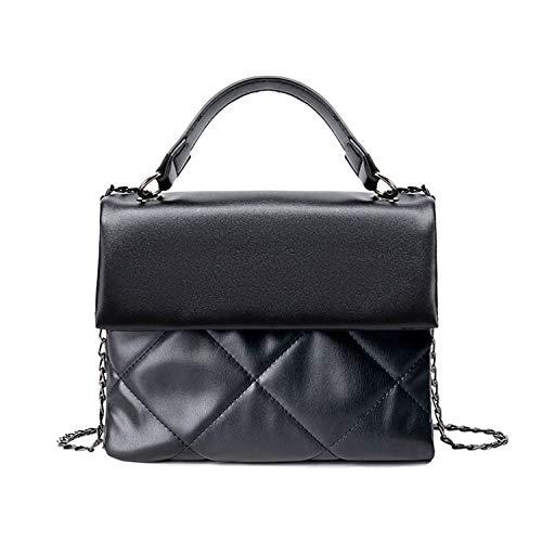 Borsa nera donna grande - Borsetta a Tracolla Elegante - Borse a Mano Donna morbida Pelle - vintage organizzatore shopping bag unequal