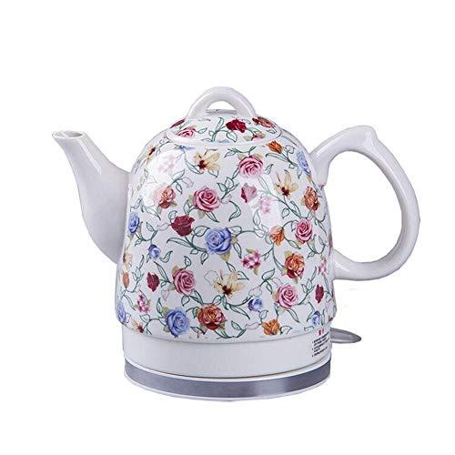 Bouilloire sans fil en céramique électrique Teapot-rétro 1.5L Jug, 1350W eau rapide for le thé, café, soupe rapide (Couleur: A) 8bayfa (Color : B)