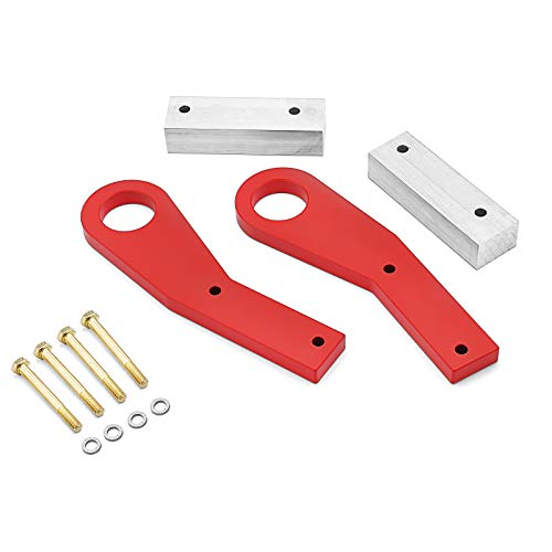 WSays Front Hidden Bumper Red Recovery Point Tow Hook Compatible with 2011-2020 Jeep Grand Cherokee WK2