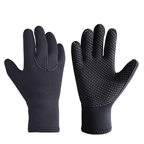 Handschoenen 3 mm zwemmen duiken slip resistente warm koud vissen snorkelen spot wetsuit, kleur: zwart, grootte: L