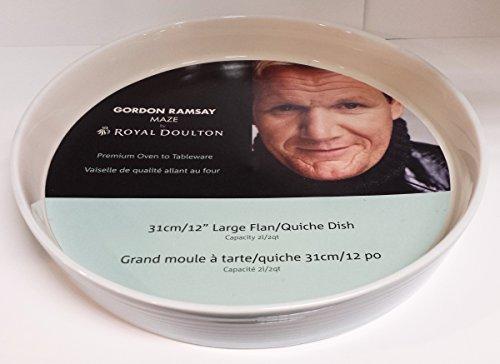 Royal Doulton Gordon Ramsey Maze plat rond Moule à Tarte Bleu