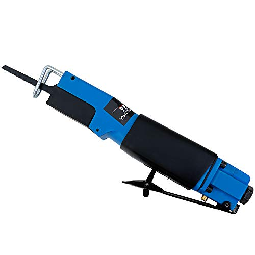 cucunu Reciprocating Air Saw 1/4' 90PSI for Plastic and Metal I Pneumatic Body Saw with 6 Blades I Air Saw Tool, Pneumatic Mini Saw 10.000 SPM