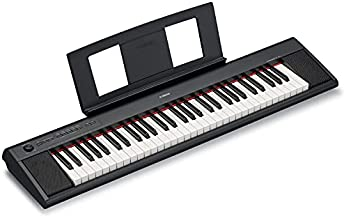 YAMAHA NP12 61-Key Lightweight Portable Keyboard, Black (Power Adapter Sold Separately)