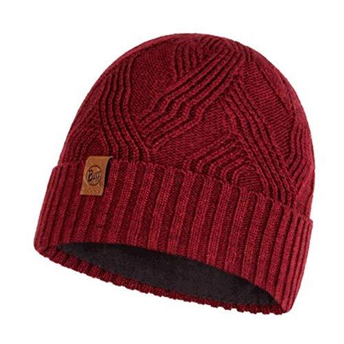 Buff Knitted & Polar Hat Artur Maroon