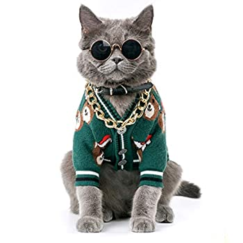 Christmas Pet Sweater for Small Dogs and Cats Winter Warm Sweatshirt Dog Clothes Pet Accessories  Greenbear Small