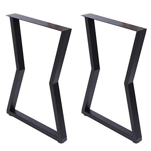Gambe da Tavolo in Ferro Battuto Set di 2 Pezzi - 45 x 71 cm - Gambe in Metallo per Piano di Lavoro Nero Fai-da-Te per Tavoli da caffè, Tavoli Soggiorno, Mobili