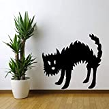 Lustige Hexen Katze PVC Raum Grafik 56x51cm Kunst Zitat Wandaufkleber,abnehmbare Aufkleber,Home...
