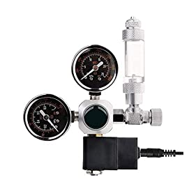 ConPush CO2 Druckminderer,Nachtabschaltung, Magnetventil, 2 Manometer und Blasenzähler für Aquarium