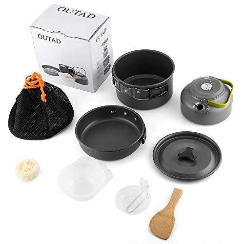 Camping kookgerei Mini Pan Kettle en Pot Set voor Homgrace voor 2-3 personen