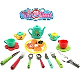 eErlik Latest Kitchen Utensils Tea Party Pretend Food Playset for Kids (Tea Set)
