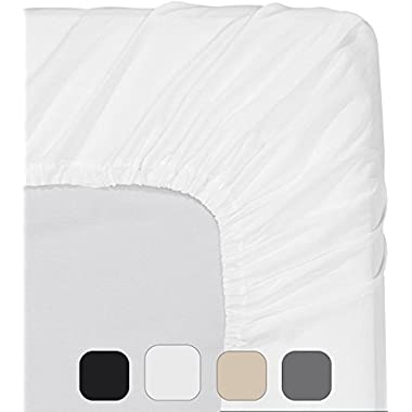 Utopia Bedding Fitted Sheet (Queen - White) - Deep Pocket Brushed Velvety Microfiber, Breathable, Extra Soft and Comfortable - Wrinkle, Fade, Stain and Abrasion Resistant - by