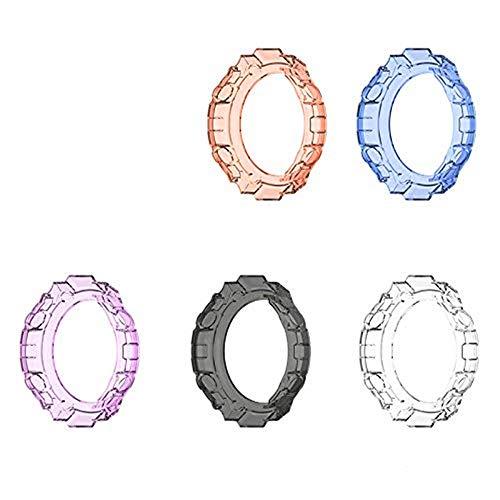 5 PCS Funda para Amazfit T-Rex Smartwatch, Silicona TPU de Repuesto para Funda Protectora a Prueba de Golpes e irrompible para Amazfit T-Rex Smartwatch