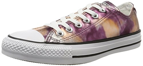 Converse Unisex-Erwachsene CTAS OX White/Black Sneaker, Mehrfarbig (Dusk Pink), 38 EU