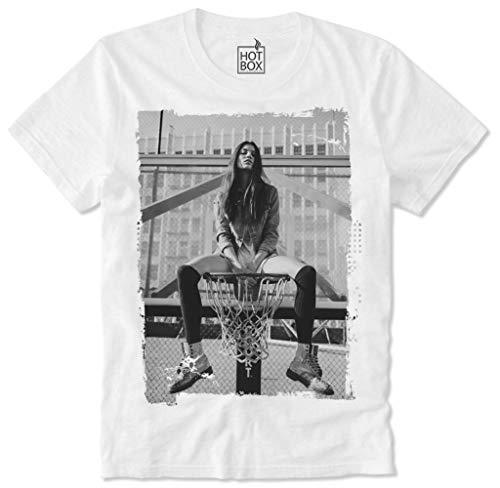 HOTBOX T-Shirt Hot Sexy Girl Model Basketball Kate Moss Megan Fox Supermodel Pun Up-M
