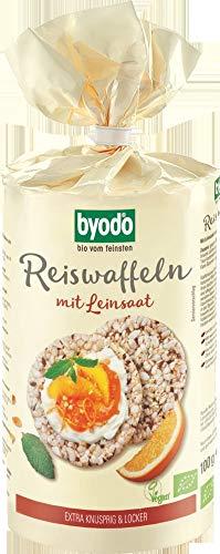 Byodo Bio Reiswaffeln mit Leinsaat (6 x 100 gr)