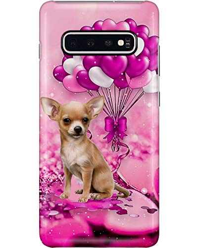 Chihuahua Puppy Heart Balloon Purple Phone Case for Samsung Galaxy S10e - Silicone Case with 3D Printed Design, Slim Fit, IMD Soft TPU Cover