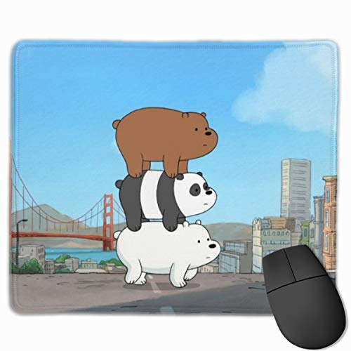 We Bare Bears Mouse Pad Customized Mousepad Non-Slip Rubber Base Mouse Pads for Computers Laptop Office Desk Accessories 9.8 X 11.8 Inch