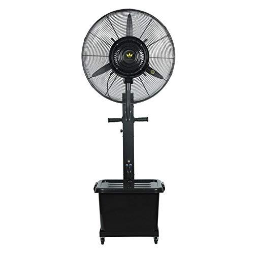YUYI Climatizadores evaporativos Ventilador nebulizador,Kit de nebulización de Ventilador oscilante, 3 velocidades de enfriamiento 41L, Ventilador de Piso oscilante de ángulo Ajustable para Patios al