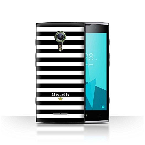 Stuff4Phone Case/Cover/Skin/alcf2/Custom Stripes/Striped Collection Étoile Rayure Noir