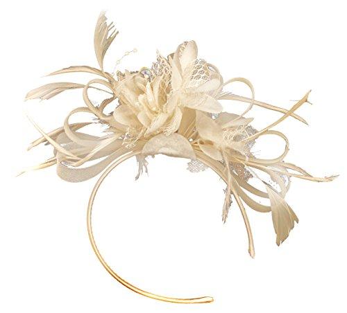 Caprilite Fashion Creme BURLESQUE FASCINATOR Stirnband Hochzeit KOPFSCHMUCK HAARSCHMUCK