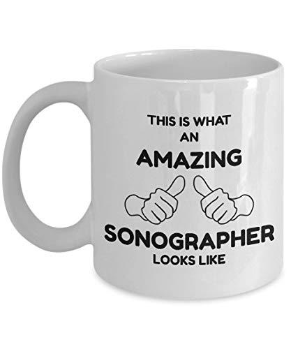 N\A aza de ecografista - Así se ve un sonógrafo increíble - Taza de café de cerámica Blanca novedosa