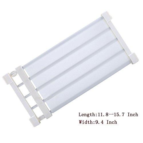 ECVISION Adjustable Scalable Shelf Divider,Wardrobe Armoire Bathroom Kitchen Shoe Rack Layered Separator, White (S)