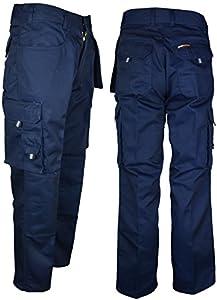 Boston - Pantalones Tuff Stuff de trabajo resistentes para hombre, con interior de la pierna de 76,2 y 82,5 cm