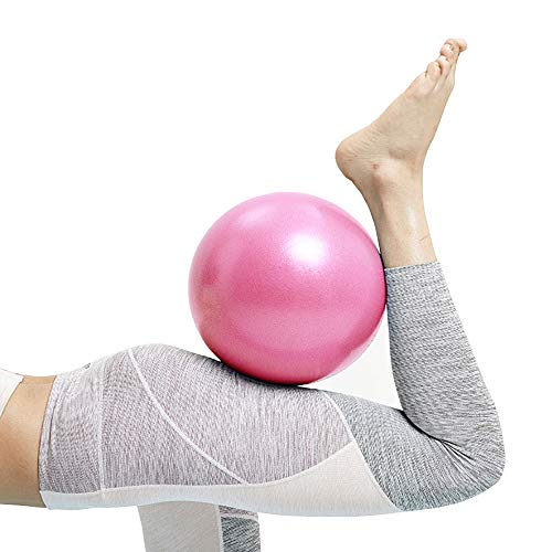 Mini Exercise Barre Ball, Gymnic Over Ball, Pilates Soft Ball for Core Training and Physical Therapy, Improves Balance (Home & Gym & Office) Mini Yoga Ball, Small, 9 Inches (Pink)
