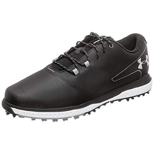 Under Armour Fade RST 2 E, Zapatos de Golf para Hombre, Negro (Black/Steel/Metallic Silver 001), 44.5 EU