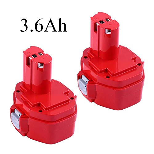 [Upgraded 3600mAh] Replacement for Makita 14.4V Battery Ni-MH 1420 1422 1433 1434 1435 1435F PA14 192699-A 193158-3 192600-1 193985-8 1051D 14.4-Volt Cordless Power Tool 2 Pack