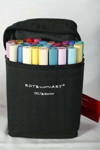 DMS40C - ROTBART - Delta Marker 40er Set C - 40-teiliges Farbset - plus praktischer Tasche