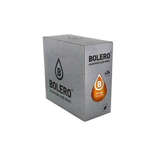BOLERO Drinks 24 bustine da 9 grammi gusto MANGO - Preparato istantaneo per Bevande con Stevia e Vitamina C e Senza Zucchero