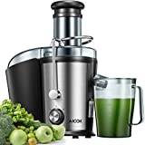 Juicer, Aicok Juice Extractor Easy to Clean, 800W Ultra Power Centrifugal Juicer Machine with 3''Wide Mouth for Whole Fruits & Vegetables, 2 Speed Control, Stainless Steel & Anti-drip, BPA Free
