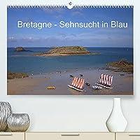 Bretagne - Sehnsucht in Blau (Premium, hochwertiger DIN A2 Wandkalender 2022, Kunstdruck in Hochglanz): Die wunderschoene Bretagne (Monatskalender, 14 Seiten )