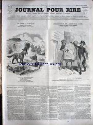 JOURNAL POUR RIRE [No 89] du 13/10/1849 - LE LOUP ET L'AGNEAU - FABLE DE LA FONTAINE - DESSINS DE BERTALL - GRAVE PAR RIAULT ET DUMONT - ARRESTATION DE LA PIECE DE ROME - IMPOT SUR LES BOISSONS.