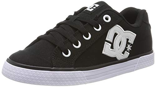 DC Shoes Damen Chelsea Tx-Shoes for Women Sneaker, Black/White/Black, 40.5 EU