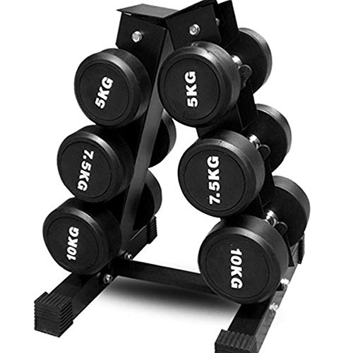 3-Tier A-Type Dumbbell Storage Rack, Solid Steel Dumbbell Rack, Weightlifting Dumbbell Rack, Multi-Layer Manual Weightlifting Tower Gym, Hexagonal Dumbbell Rack, Home Fitness Sports Dumbbell Rack